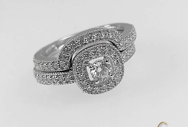Argolla-pisa Argolla Oro Blanco 18k Diamante.