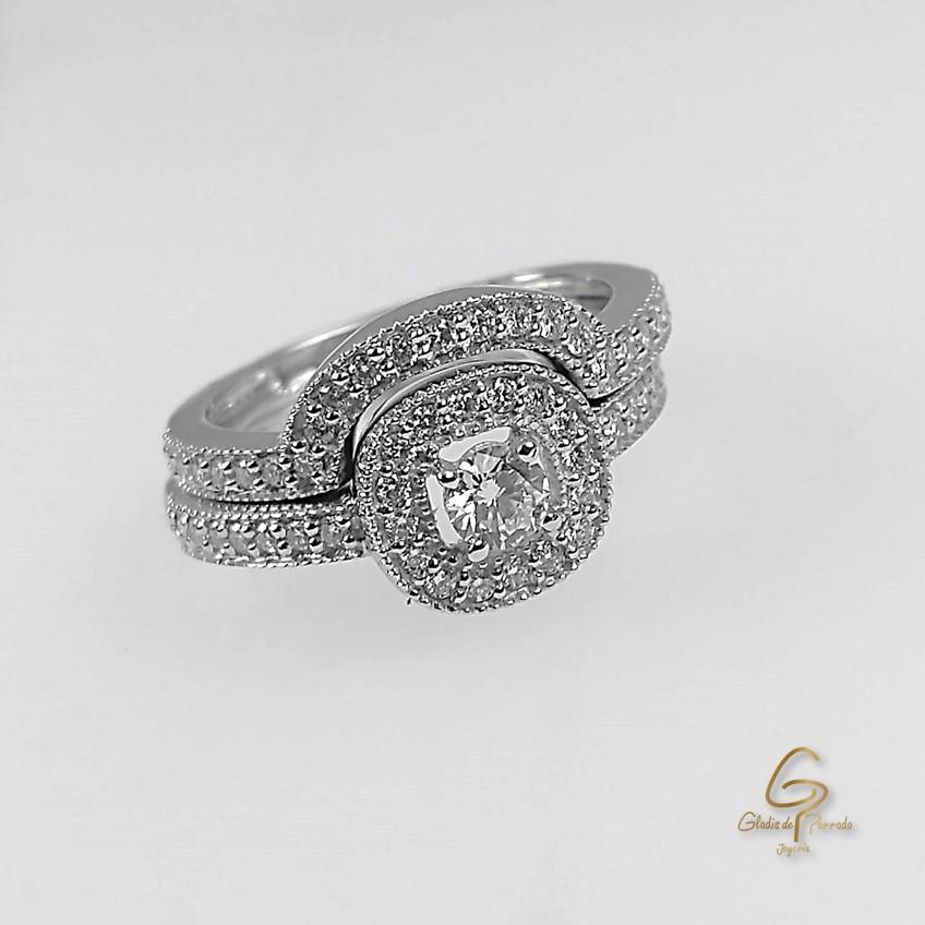 Argolla-pisa Argolla O.B 18k Diamante.