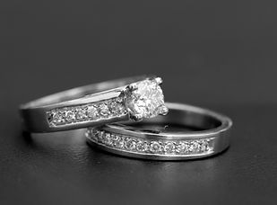 Juego Pisargolla Oro Blanco 18k Diamante
