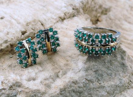 Topo y anillo Plata-Oro Belleza Quimbaya