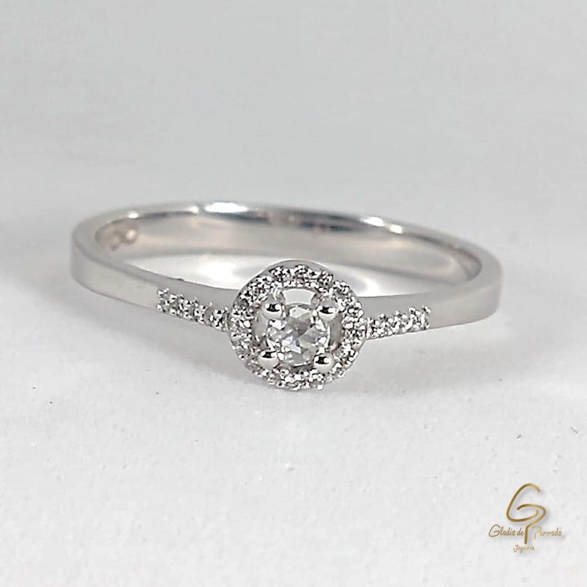 Anillo O.B 18k Corona Diamantes