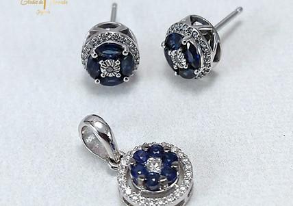 Set O.B 18k Diamantes-zafiro