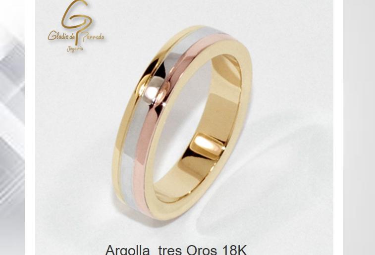 Argolla 3 Oros 18k