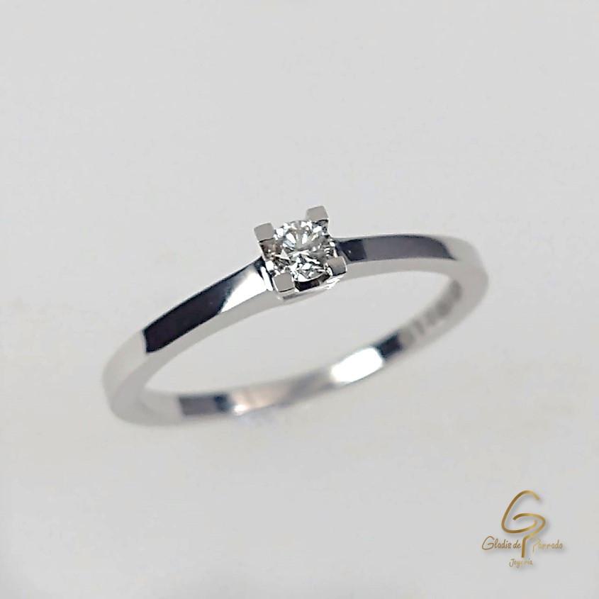 Solitario O.B 18k Diamante.