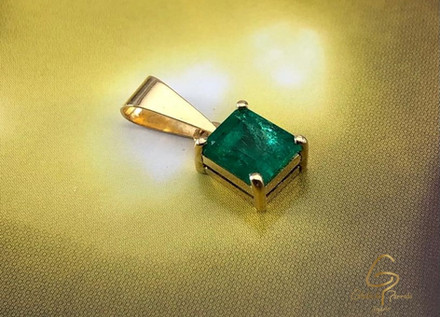 Dige Oro Amarillo 18k Rectagular Esmeralda 0.96ct