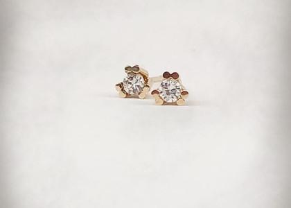 Topos Oro Amarillo 4 Uñas  diamante