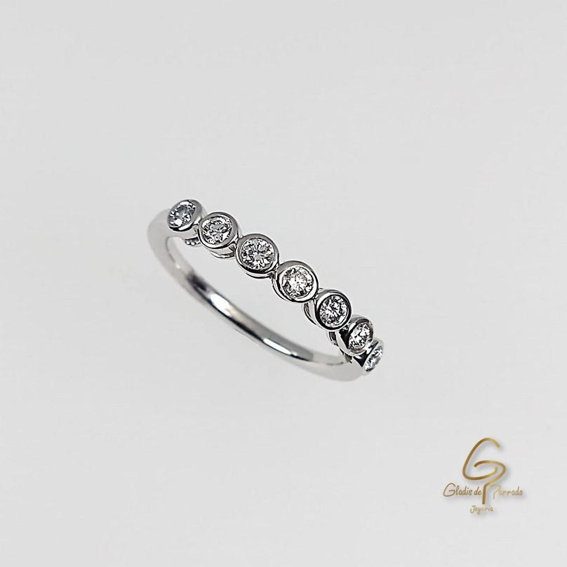 Argolla O.B 18k Diamantes Engaste Invisible