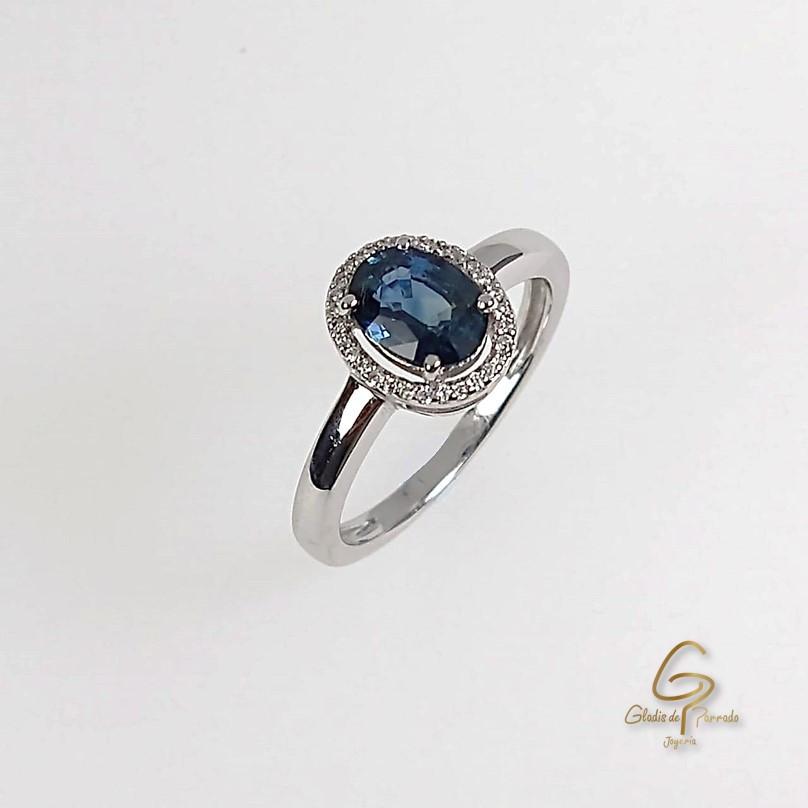 Anillo O.B 18k Zafiro Diamantes