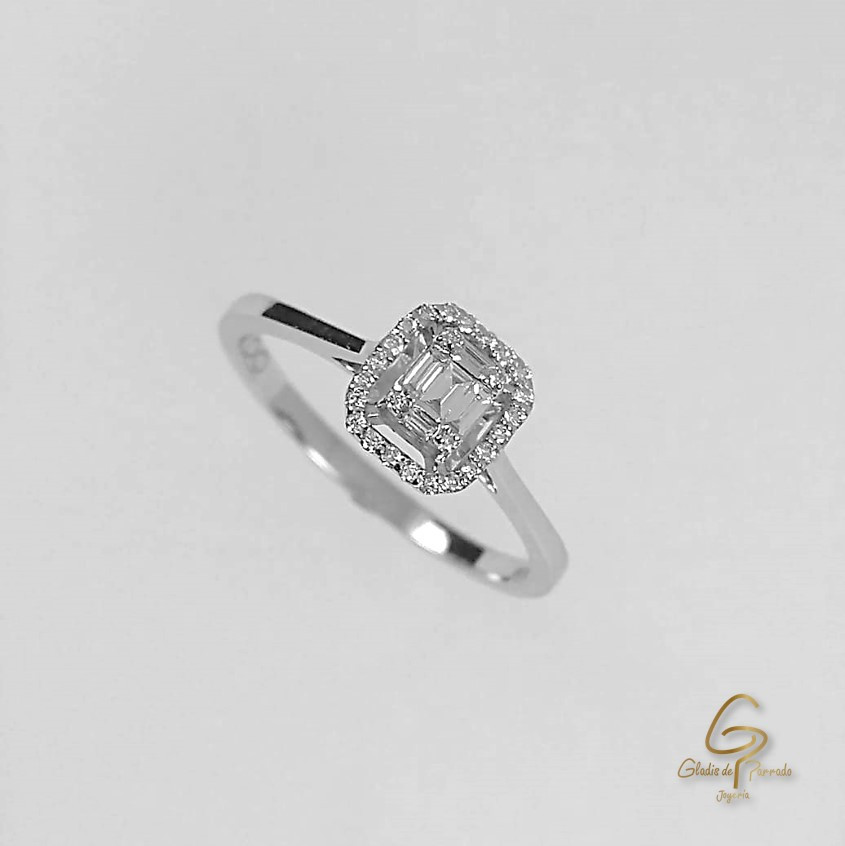 Anillo O.B 18k Diamante Bagguet