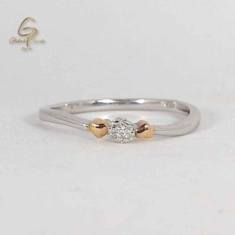 Solitario O.B 18k bicolor Diamante