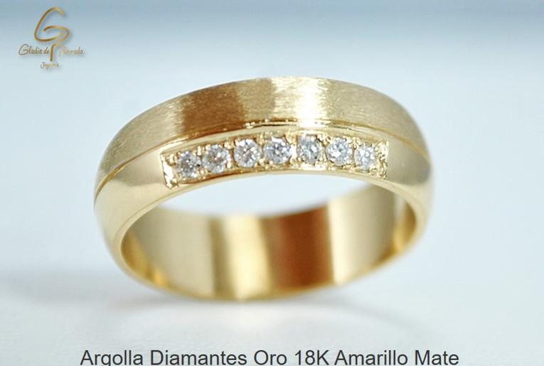 Argolla Oro Amarillo 18k diamantes