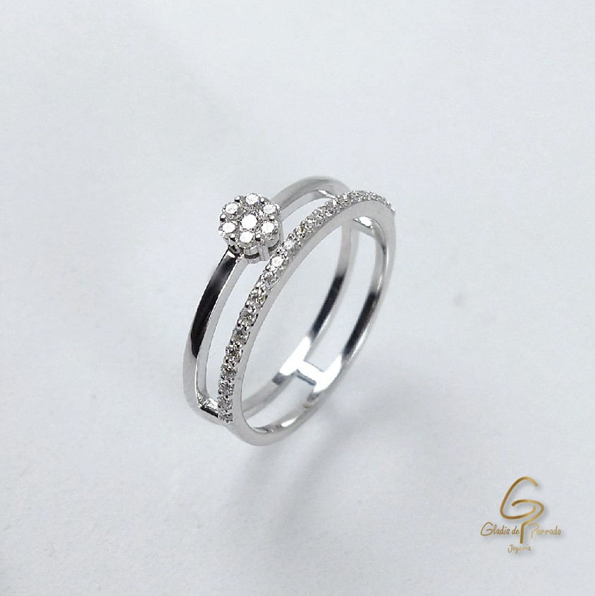 Prenda Y Pisaprenda O.B 18k Diamantes