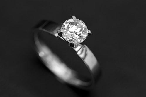 Solitario platino diamante 1 kilate