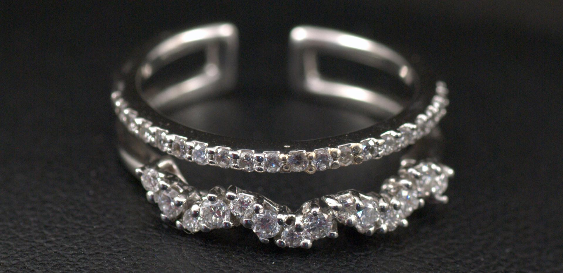 Argolla y pisargolla Dos Hileras Diamant
