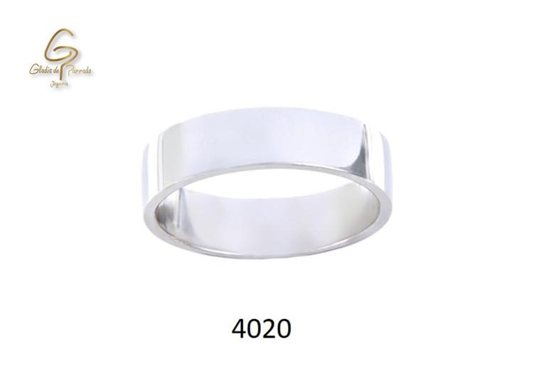 Argolla Oro Blanco 18k Plana 5mm.