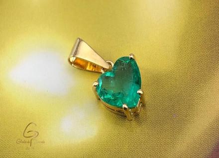 Dige Oro Amarillo 18k Esmeralda Corazón 1.53ct