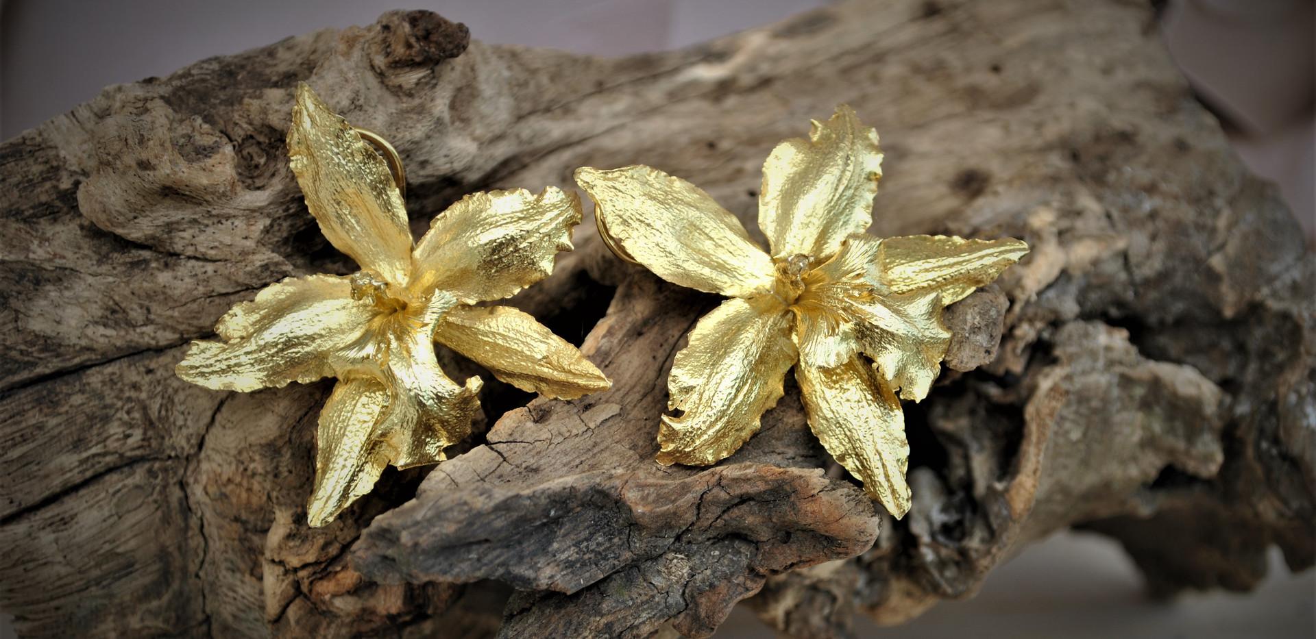Totopos orquidea plata amarilla