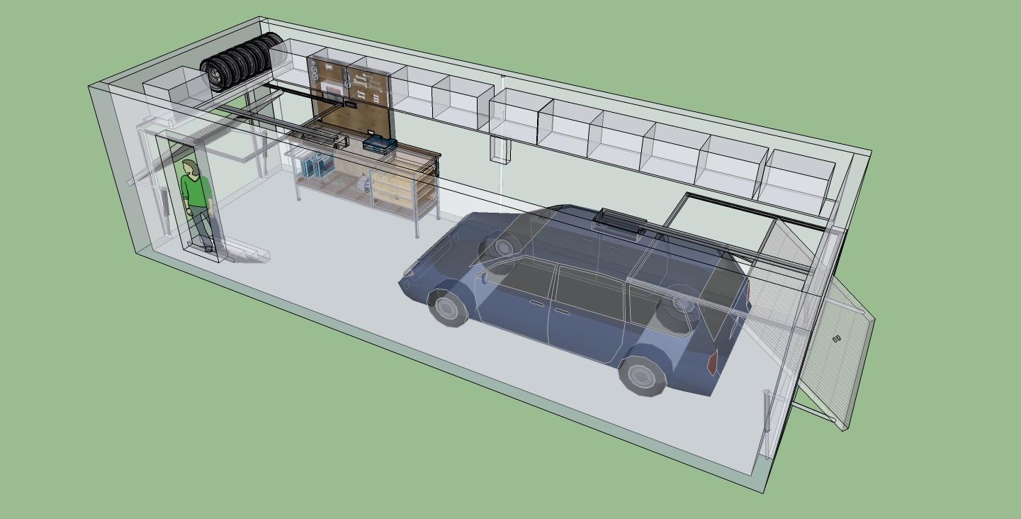 Modélisation_aménagement garage