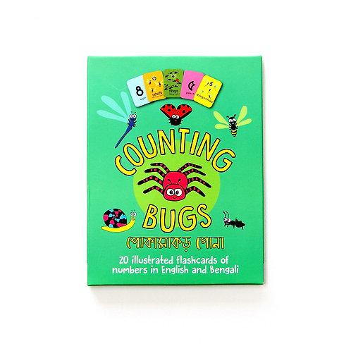 Counting Bugs - Bengali Bilingual Flashcards