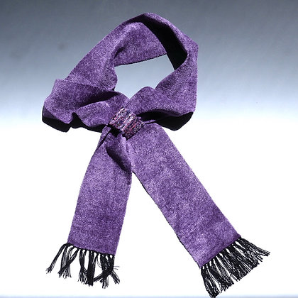Lilac Scarf with Textured Tab
