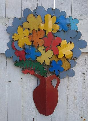 Blue Flowers RedPitcher
