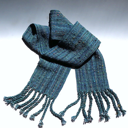 Teal in Wool and Ribbons