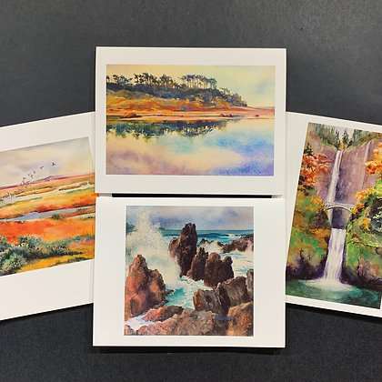 Landscapes - 4 Card Set by Mary Burgess