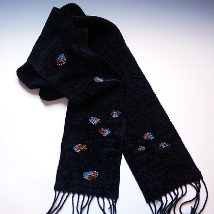 """Scarf with Drifting """"Petals"""""""