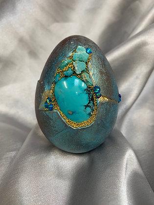 Turkey egg set with Turquoise