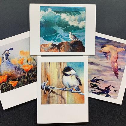 Birds #3 - 4 Card Set by Mary Burgess