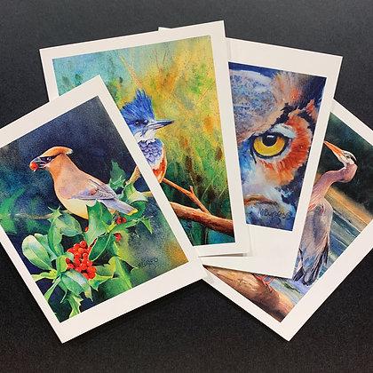 Birds #1 - 4 Card Set by Mary Burgess