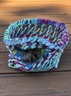 Rohacher pastel basket in chenille and p