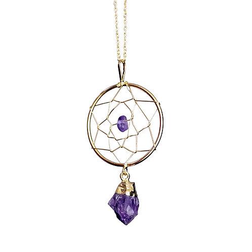Amethyst Dreamcatcher Necklaces
