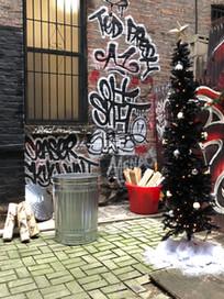 "Set Design for ""Black Ink NY"" holiday special."