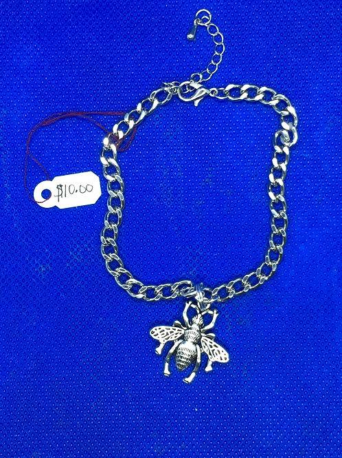 Bee Chain on Bracelet