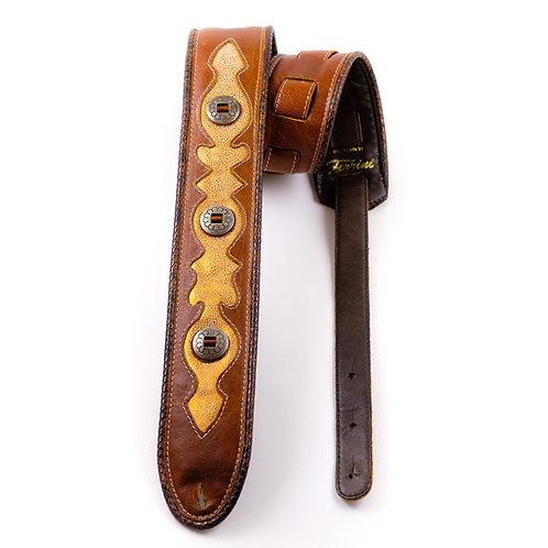 guitar strap with copper design