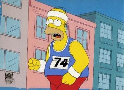 Fat man running
