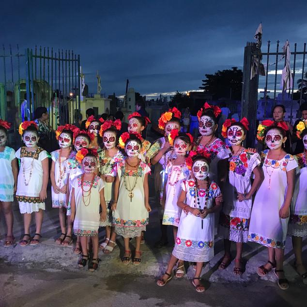 Dia de los muertos in Progreso, Yucatan