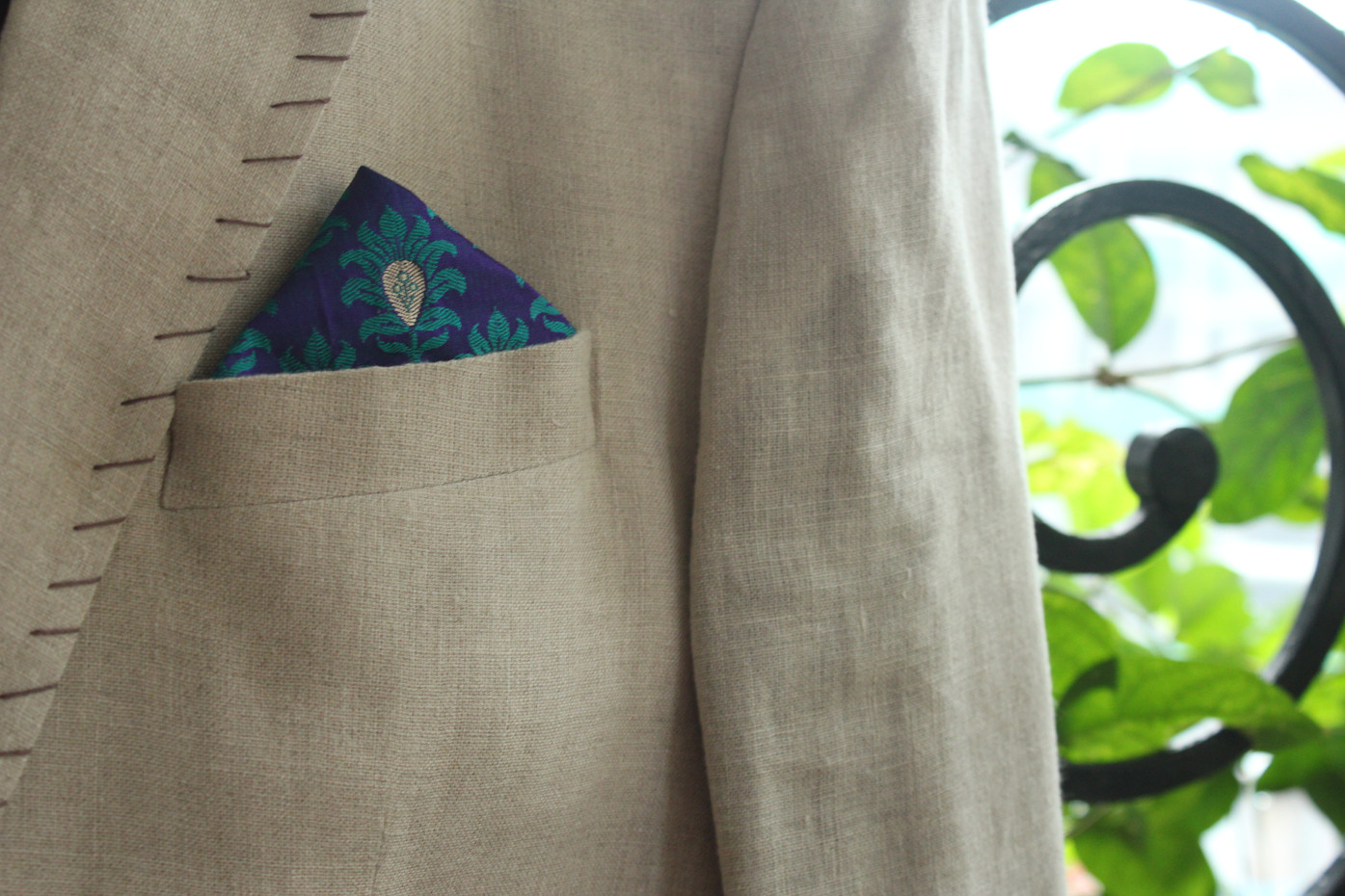 Purple Blue Paisley Design