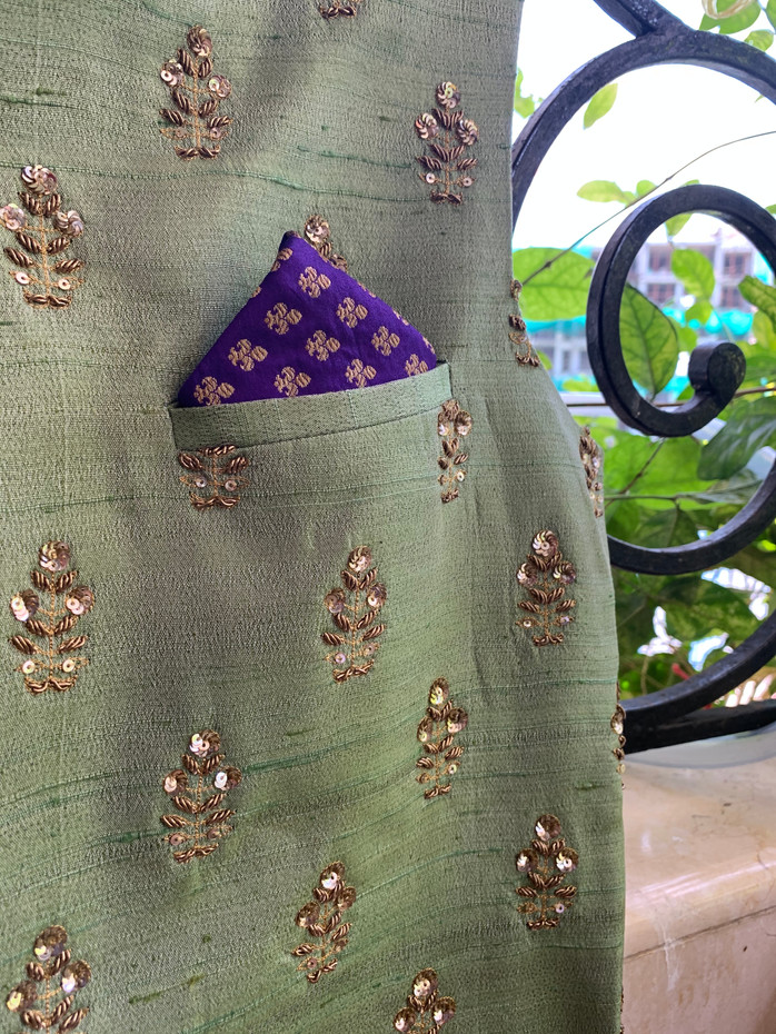 Purple Floral Jaal Design