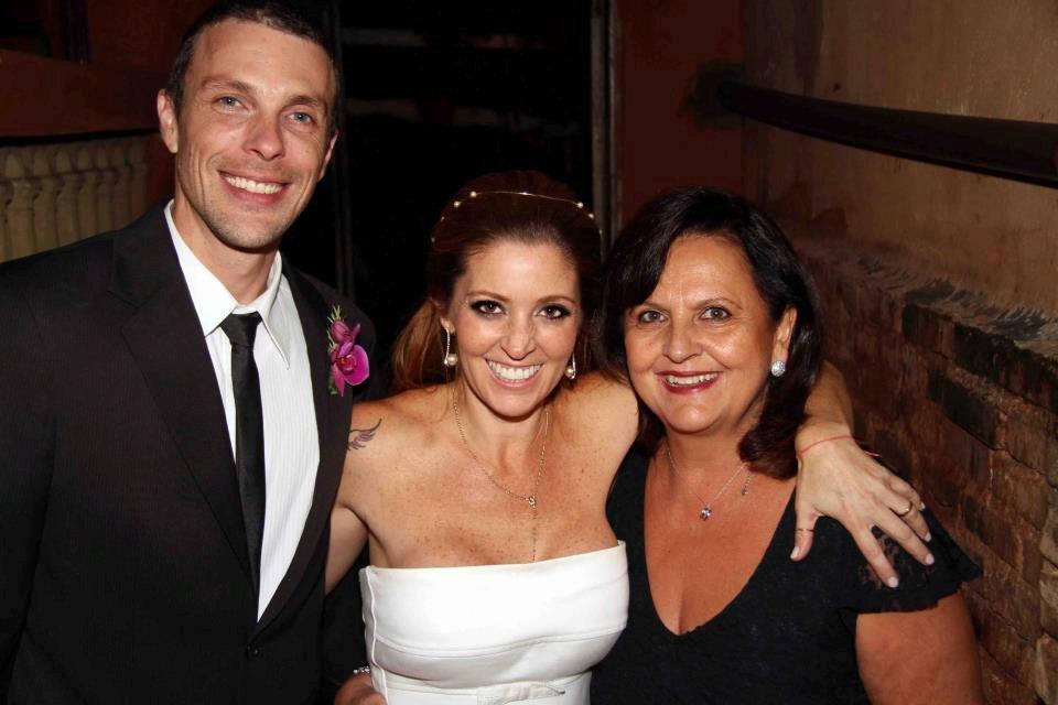 Ana com Paula e Rodrigo Millen