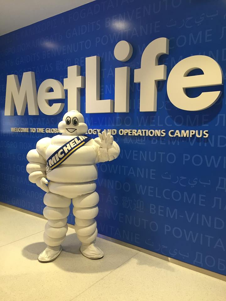 8-27-15 Michelin Mascot Cary NC Promotion