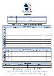 Match Day Team Sheet Participation - NFL