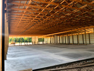 80x214 main barn and 24x88 feed alley - now that is large!