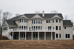 Back of newly build home