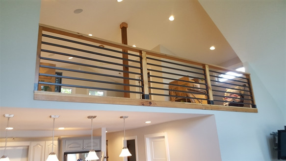 interior residential railing - custom fa