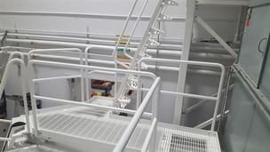 commercial railing - custom fabrication.