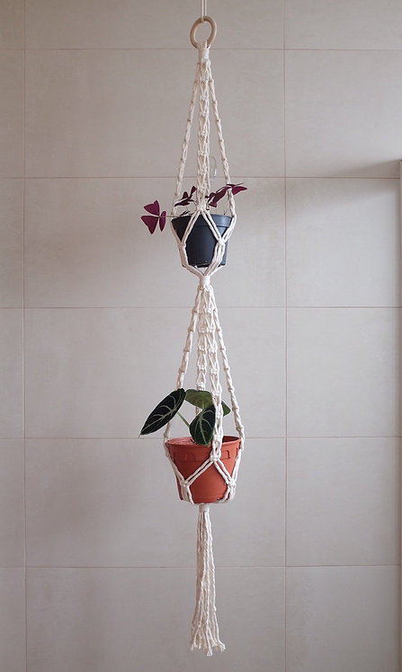 Double-tier 'X' plant hanger