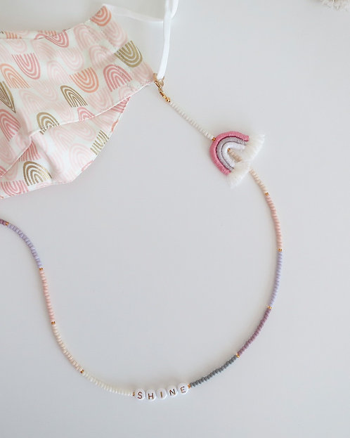 Euniqyou x Knoette Sunset Rainbow Mask Chain