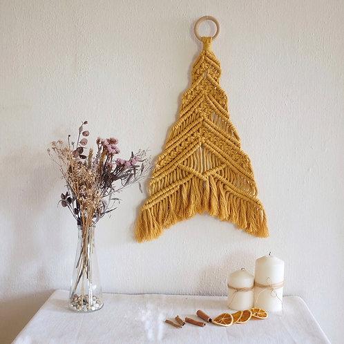 Mustard Christmas Tree Wall Hanging